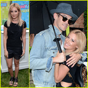 Ashley Tisdale Jumps in the SweeTARTS Chewy Sours Selfie at Just Jared's Summer Bash!