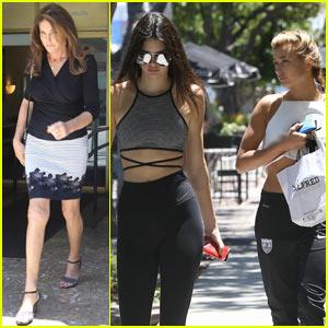 Kendall Jenner Brings Hailey Baldwin Along for Caitlyn Jenner Lunch Date!