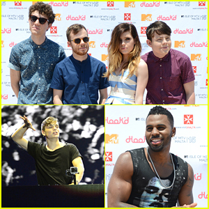 Echosmith Perform Chilling 'Bright' Cover With Lindsey Stirling Before Isle of MTV Malta Festival