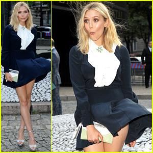 Elizabeth Olsen Handles Wardrobe Malfunction Like a Pro!