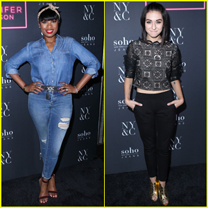 Jennifer Hudson Gets Support from Christina Grimmie at New York & Company Launch!