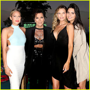 Kendall Jenner & Mom Kris Step Out at Amazon Prime Summer Soiree!