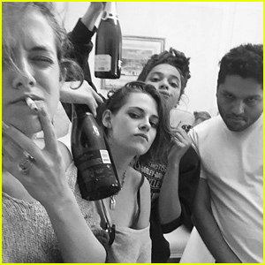 Kristen Stewart Spends Time with Friends in Paris Before Fashion Week!