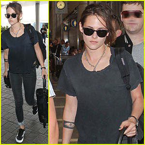 Kristen Stewart Looks Casual For LAX Airport Departu
