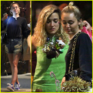 Miley Cyrus Grabs Low-Key Dinner With Gal Pal