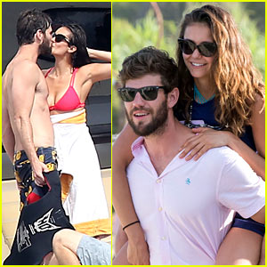 Nina Dobrev Gets a Piggyback Ride from Boyfriend Austin Stowell!