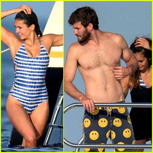 Nina Dobrev Enjoys a Fun Yacht Day with Boyfriend Austin Stowell!
