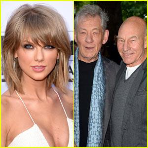 Taylor Swift Lets Patrick Stewart & Ian McKellen Into Her Squad