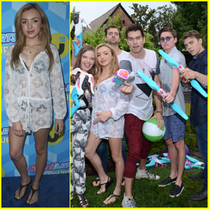 Peyton & Spencer List Took Part in Epic Water Fight at Just Jared's Summer Bash!