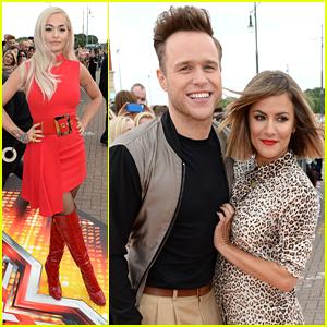 Rita Ora & Olly Murs Head To Manchester For 'X Factor' Photo Call