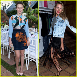 Taissa Farmiga Goes Colorful at Just Jared & JustFab's Malibu Dinner with Christa B. Allen