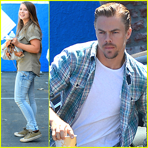 Bindi Irwin & Derek Hough Start 'Dancing With The Stars' Practice in Los Angeles