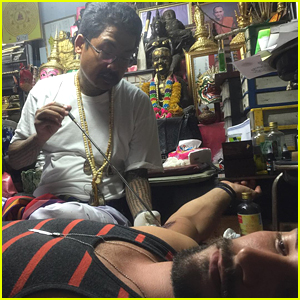 Brant Daugherty Gets Sak Yant Tattoo In Thailand - See It Here!