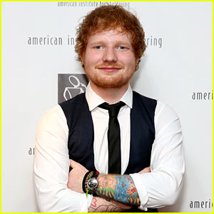 Ed Sheeran Debuts Lion Chest Tattoo with Shirtless Photo!
