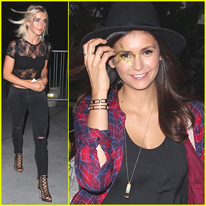 Julianne Hough & Nina Dobrev Wear Fun Glitter Face Paint To Taylor Swift's Concert