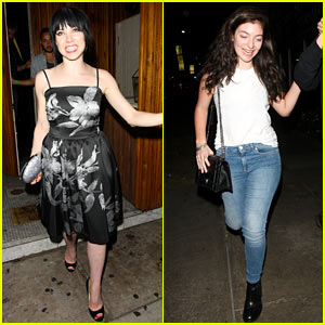 Carly Rae Jepsen Gets Lorde's Support at Album Release Concert!