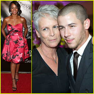 Nick Jonas Performs 'What A Wonderful World' At HFPA Annual Banquet