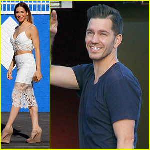 Allison Holker & Andy Grammer Make It To The Dance Studio In L