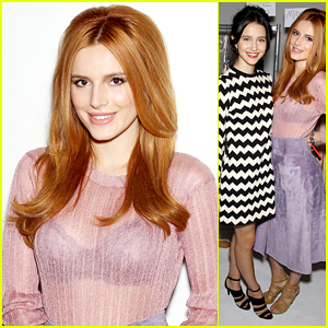 Bella Thorne & Julia Goldani Telles Strike A Pose Backstage At Jill Stuart For NYFW