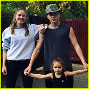 Brooklyn Beckham Rides a Hoverboard with Little Sister Harper