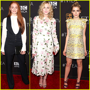 Sophie Turner & Laura Carmichael Go to Tea with BAFTA