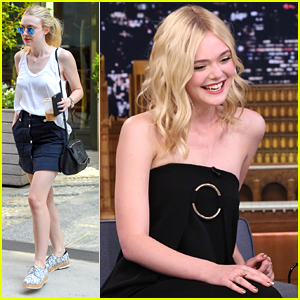 Elle Fanning Meets Up With Sister Dakota Before 'Tonight Show' Appearance