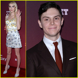 Emma Roberts Reunites With Evan Peters at the 'Scream Queens' Premiere