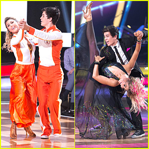 Hayes Grier & Emma Slater Nail The Foxtrot & Quickstep on DWTS - See The Pics!