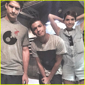 Jordan Fisher Shares Pics From 'Teen Wolf' Set