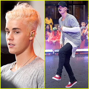 Justin Bieber Performs on 'Today,' Debuts Platinum Hair - Watch Now!