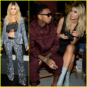 Kylie Jenner Brings Her Boyfriend Tyga to the Opening Ceremony Show!