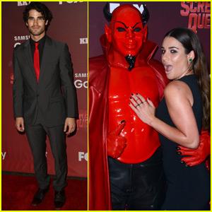 Lea Michele & Darren Criss Attend the 'Scream Queens' Premiere
