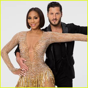 Tamar Braxton & Val Chmerkovskiy Perform the Quickstep on 'DWTS' - Watch Now!