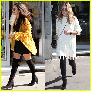 Shay Mitchell & Ashley Benson Shop Around Milan Ahead Of MTV EMAs