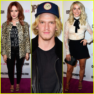 Ashley Tisdale & Cody Simpson Hit Up Cosmo's 50th Birthday Bash With Julianne Hough!