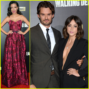 Chloe Bennet Supports Boyfriend Austin Nichols At 'Walking Dead' Fan Premiere Event