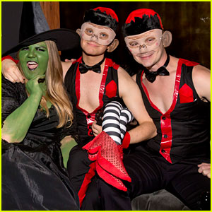 Chris Colfer & Boyfriend Will Sherrod Are Halloween's Flying Monkeys!