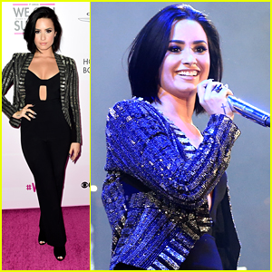 Demi Lovato Raises Breast Cancer Awareness At We Can Survive Concert 2015