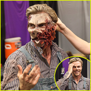Derek Hough Transforms Into Ghost Town Monster To Scare Everyone Out of Their Socks At Knott's Scary Farm