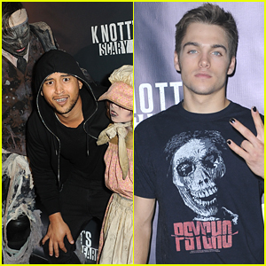 Dylan Sprayberry & Tahj Mowry Spook The Monsters at Knott's Scary Farm