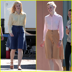 Elle Fanning Has Four Wardrobe Changes For '20th Century Women' Filming