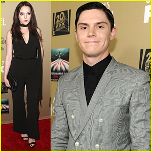 Elizabeth Gillies Joins Evan Peters At 'American Horror Story: Hotel' Premiere