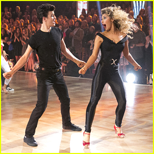 Hayes Grier & Emma Slater Make The Coolest Danny & Sandy From 'Grease' On 'DWTS'