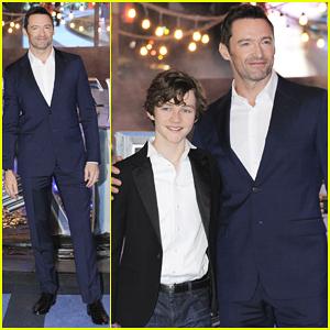 Hugh Jackman & Levi Miller Hit Mexico For 'Pan' Premiere!