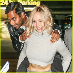 Jennifer Lawrence Goofs Off With Aziz Ansari in NYC!