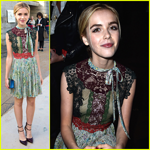 Kiernan Shipka Wows At Valentino Show During Paris Fashion Week