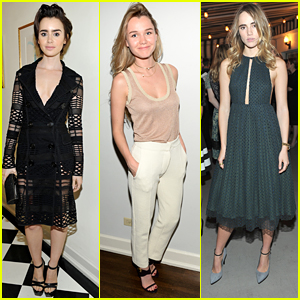 Lily Collins & Suki Waterhouse Toast to The Brittania Awards 2015
