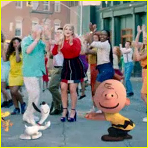 Meghan Trainor Dances With Snoopy in