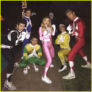 Olivia Holt, Jordan Fisher & Bradley Steven Perry Dress Up As Power Rangers For Halloween!