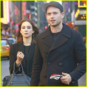 Troian Bellisario & Fiance Patrick J. Adams Couple Up for Broadway Date!